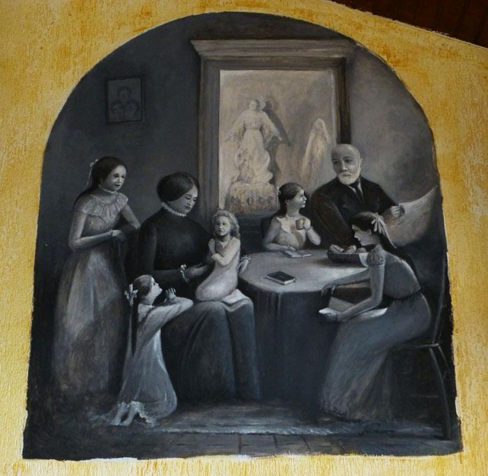 Foto van schilderij van een familie